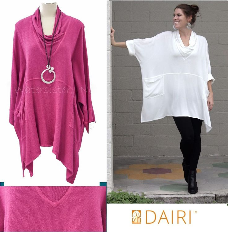 DAIRI Moroccan Boucle 2126-B COWL NECK POCKET TUNIC Boxy Top OS (M-3X) FUCHSIA | Clothing, Shoes & Accessories, Women's Clothing, Tops & Blouses | eBay!