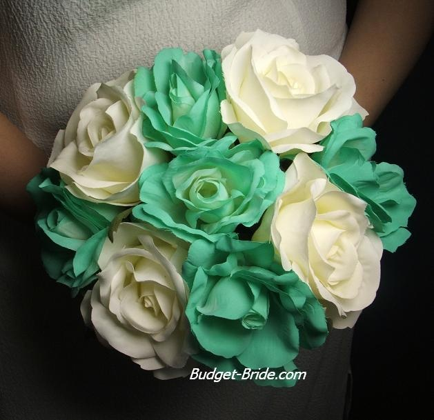Flowers in Tiffany Blue