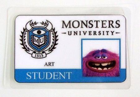 Carnet de estudiante Monstruos S.A. Monsters University. Art