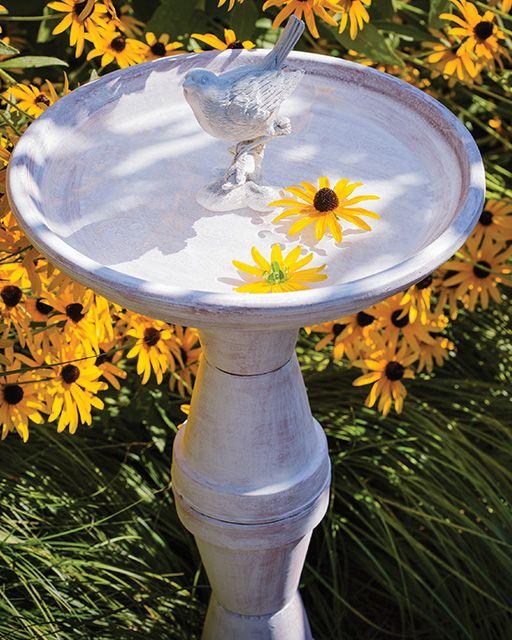 DIY Birdbath made from Terra Cotta Flower Pots | Sweet Paul Magazine