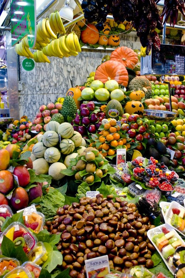 Fruit Stand in Barcelona, Spain