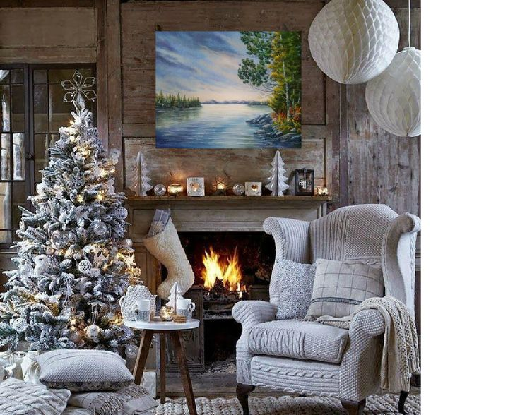 Housewarming gift for couple Christmas gift for him Landscape oil painting Canada Xmas gift for friend Christmas decor Realistic painting by svetlanamatevosjan on Etsy
