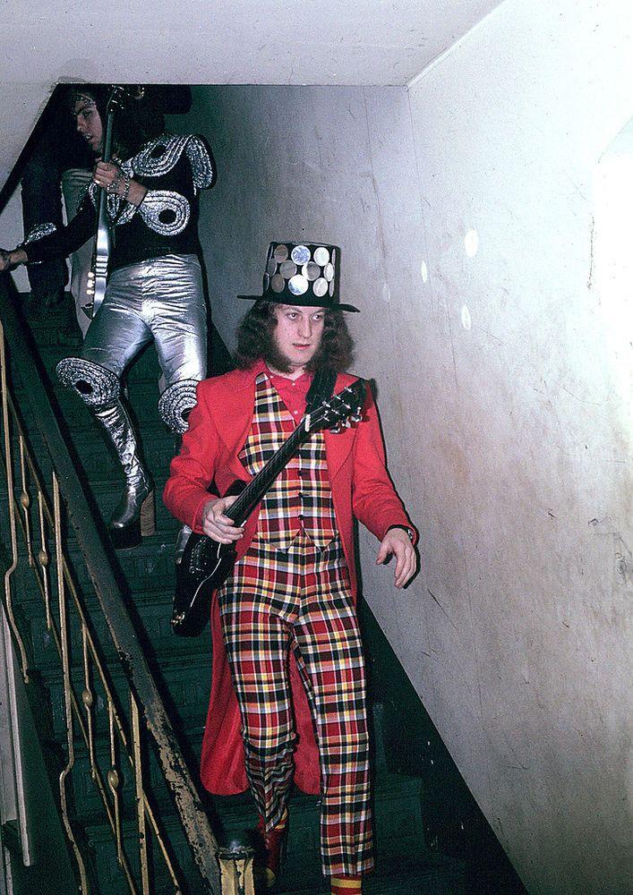 Noddy Holder - singer / guitarist for British glam rockers Slade.