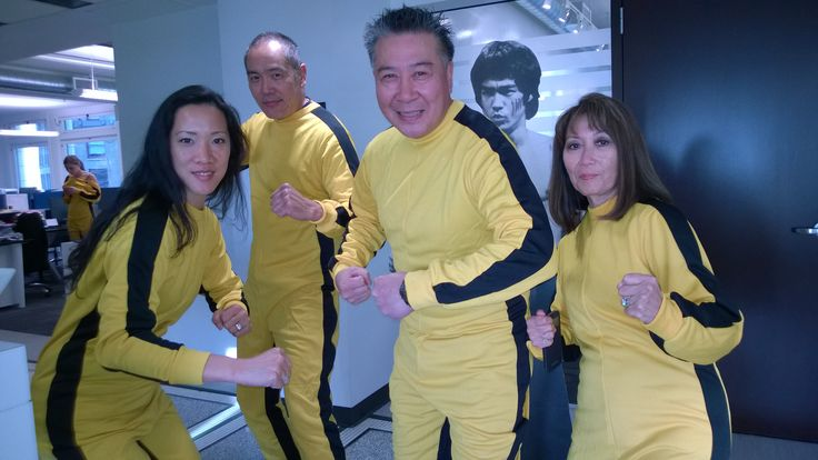 Yuji Okamoto and renowned Bruce Lee collector Jerry Lee and their spouses