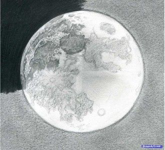 How to draw the moon with a pencil