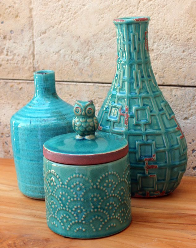 Turquoise Homewares Available at: http://thechicnest.com.au/14-blue-turquoise-homewares