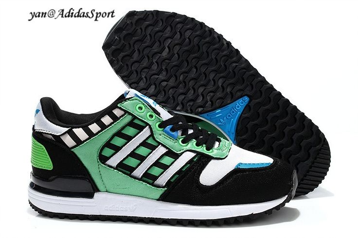 Mujeres Zapatillas Adidas Originals ZX 700 de Primavera Verde/Negro/Blanco/Azul Venta 2014