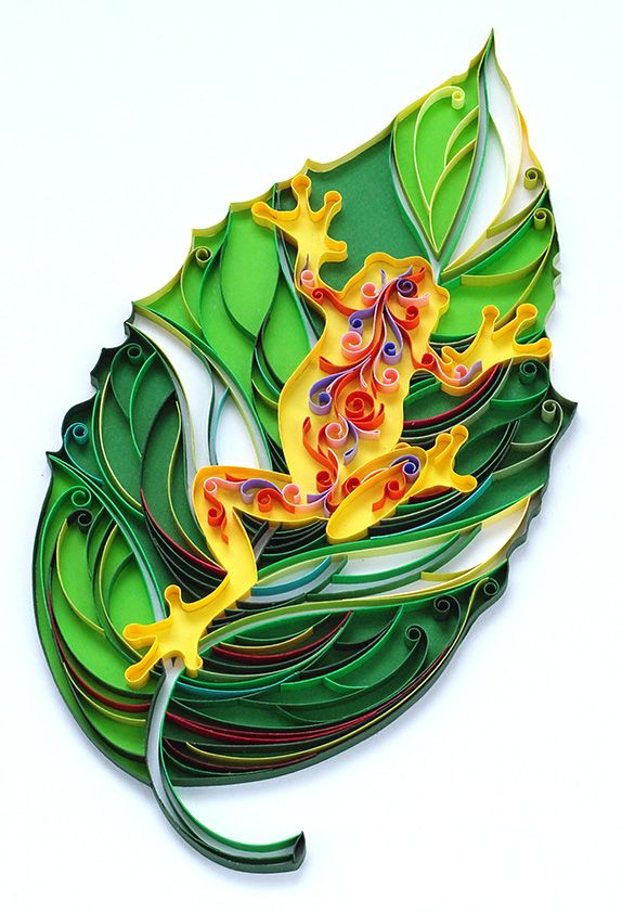 Quilling leaf