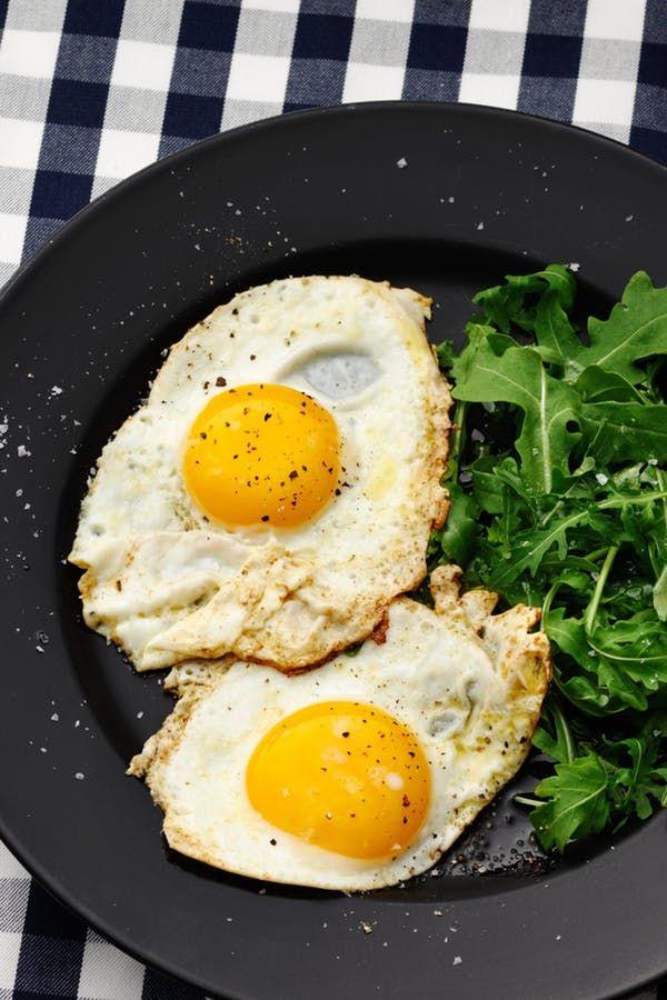 Яйца жареные на диете