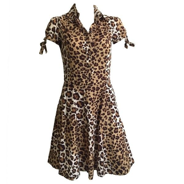 Preowned Moschino Cheetah Print Dress With Pockets Size 6. ($300) ❤ liked on Polyvore featuring dresses, black, casual dresses, cheetah print dress, moschino, preowned dresses, zipper dress and zip dress