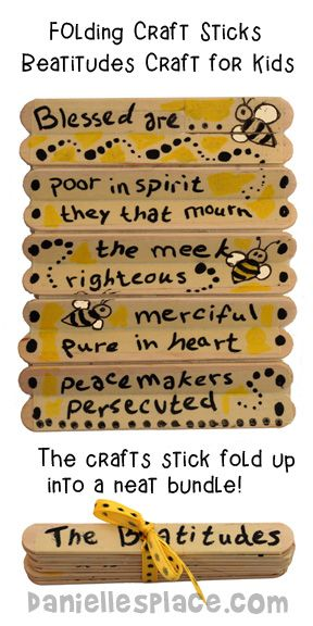 Beatitude Folding Craft Stick Craft for Sunday School from www.daniellesplace.com