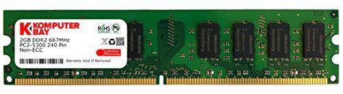 nice Komputerbay - Memoria DIMM para ordenadores de mesa (4 GB, 2 x 2 GB, DDR2, 667 MHz, PC2-5300, PC2-5400, DDR2, 667, 240 pines)