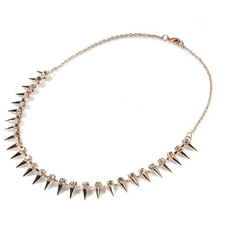 fashionable necklace with nails