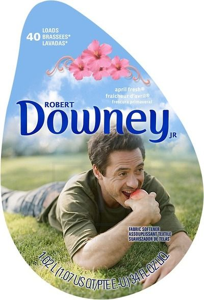 He makes a great laundry detergent: | 32 Reasons Robert Downey Jr. Is The Most Perfect Man In The Universe