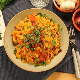 Tagliatelle peperonata - Recept från Mitt kök - Mitt Kök