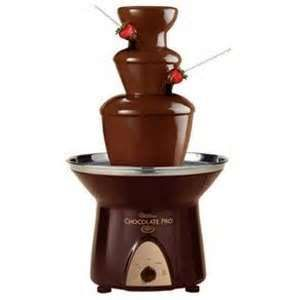 Chocolate Fountains – A to Z Party Rental - $48 a day. Chocolate and strawberries!!?!