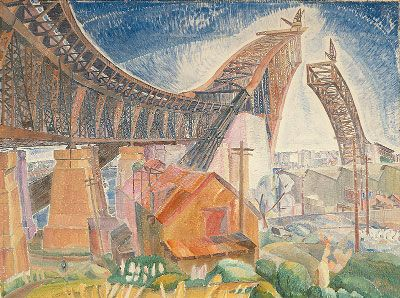 Grace Cossington Smith (1892 - 1984) | Post- Impressionism| The Bridge in Curve - 1930