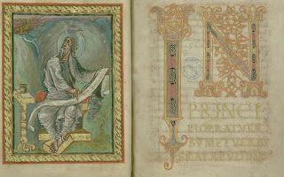 Sw. Jan - skryptorium: Ciekawostki ze skryptorium średniowiecznego - Ewangeliarz Ebbona