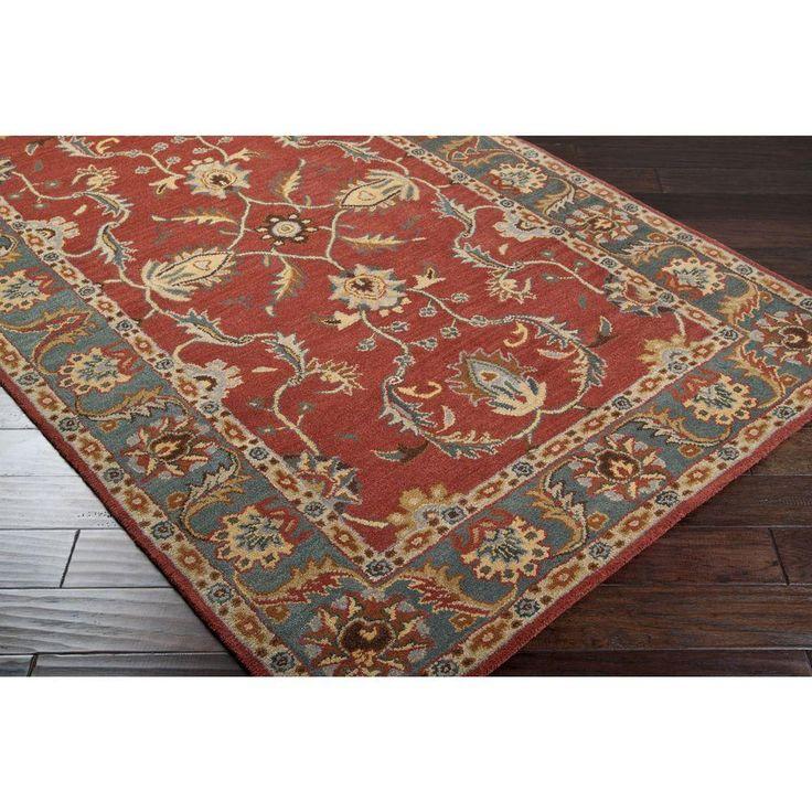 Artistic weavers chenni burgundy 2 ft x 4 ft hearth