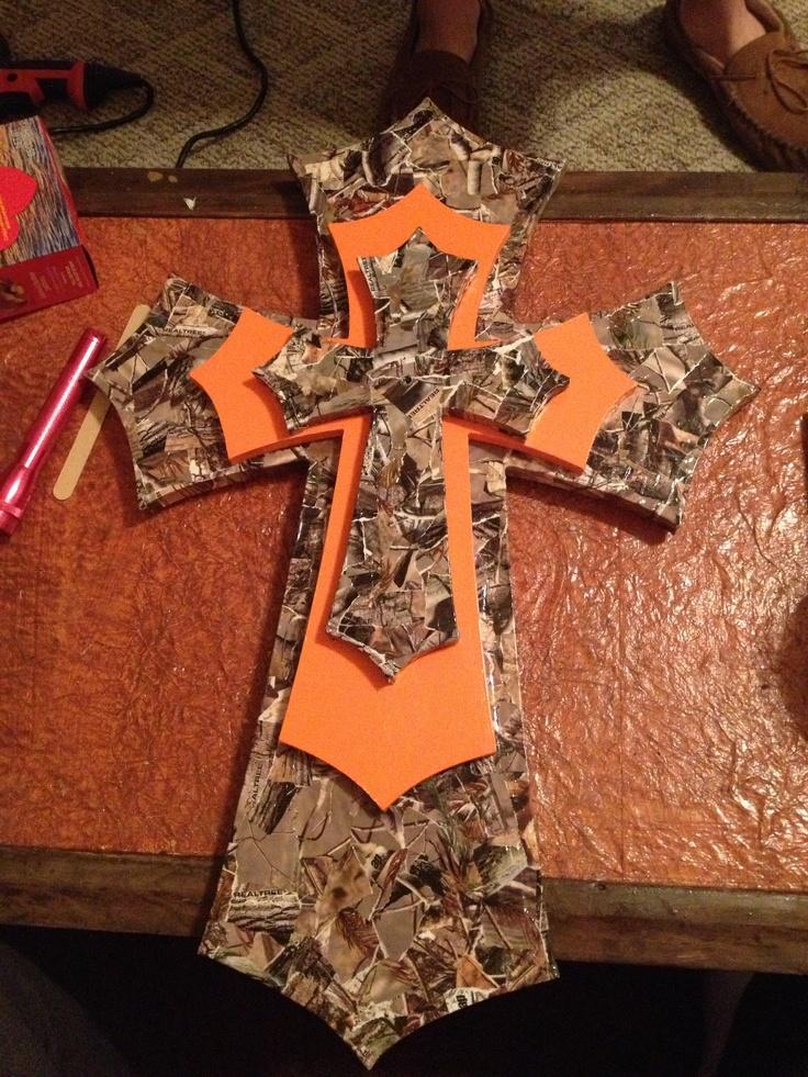 Mod podged camo cross