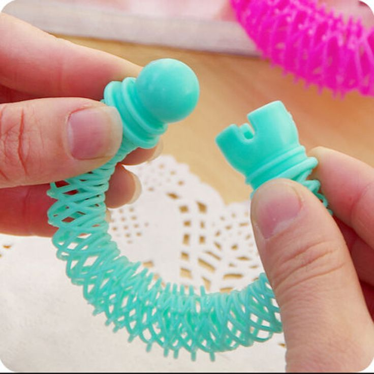 8pcs Small Hair Curlers Elastic Ring Bendy Curler Spiral Curls DIY Hair Styling Tool Girl Women Hairdress Roller Accessories
