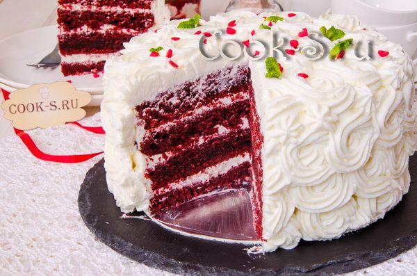 торт красный бархат рецепт с фото пошагово
