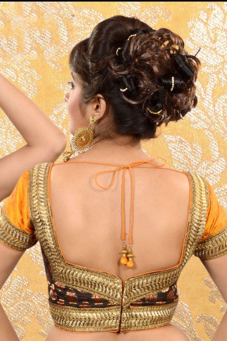 Multi colour Raw #Silk & Brocade weaved #blouse -BL442