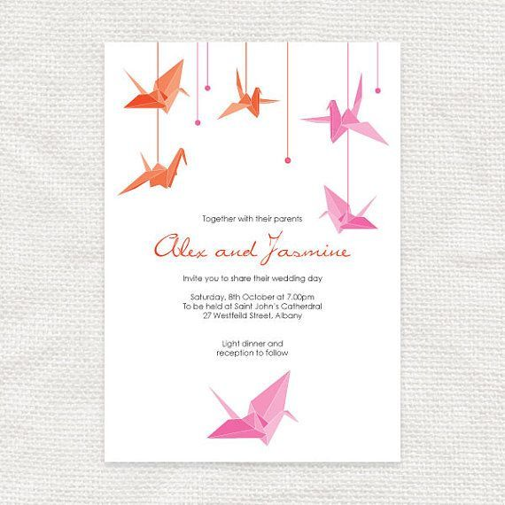 wedding invitation tsuru - Google Search