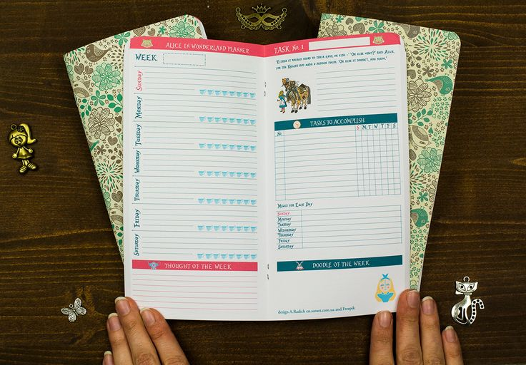 A new product, week on 2 pages design, it is an updated colored version of our Alice in Wonderland series, 192 pages of refills/inserts for your standard Midori travelers notebook. Here you get 31 weeks planner (you can use for any month you like), separately grids and lines.
