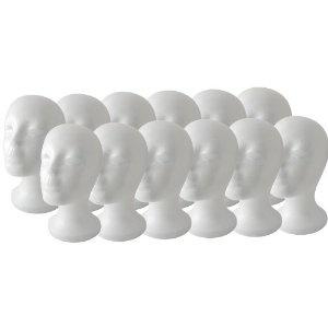 Foam Bald Mannequin Head - 12 PieceBald Mannequin, Wigs Hats, Head Wigs, Female Foam, Mannequin Head, Quality 11, Hats Models, Foam Styrofoam, Styrofoam Mannequin