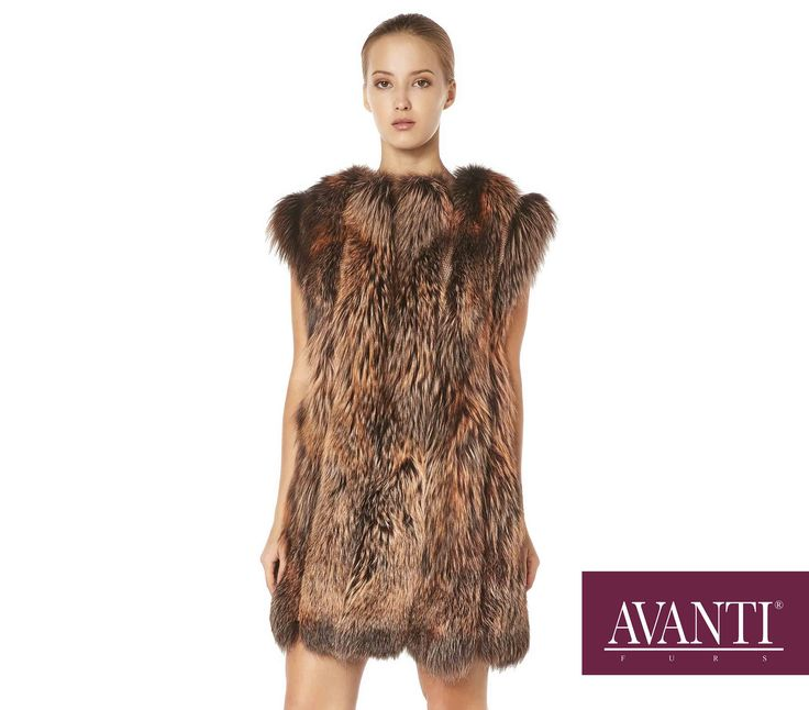 AVANTI FURS - MODEL: BALBINA-ABELINE FOX VEST with Leather textile #avantifurs #fur #fashion #fox #luxury #musthave #мех #шуба #стиль #норка #зима #красота #мода #topfurexperts