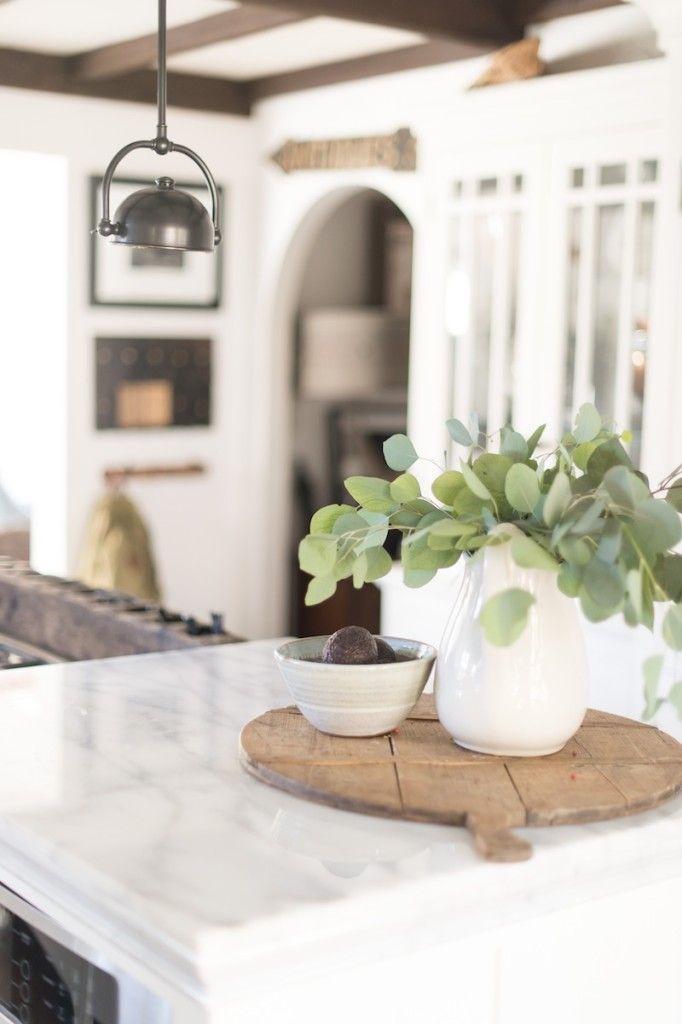 modern farmhouse Kitchen Counter vignette