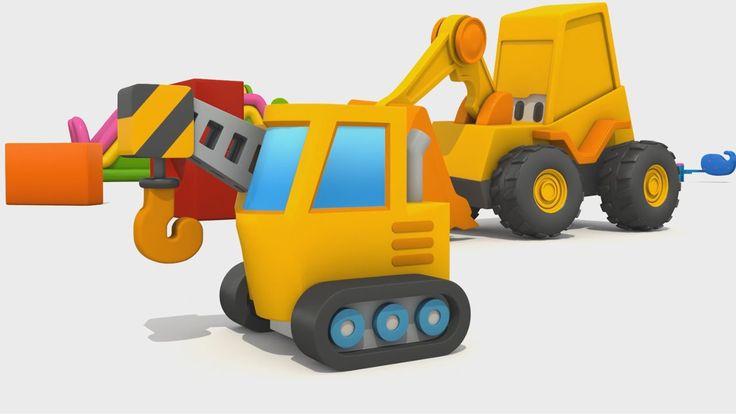Cartoni Animati per Bambini - L'escavatore Max: Come si fa una gru?