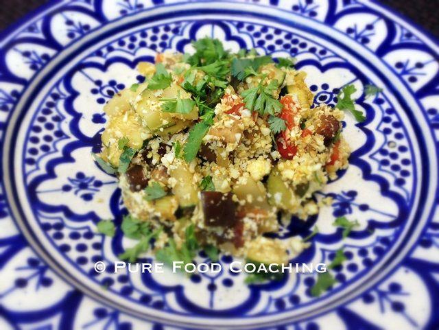 Couscous van bloemkool met seizoensgroente | Oerkracht - Paleo, Puur & meer