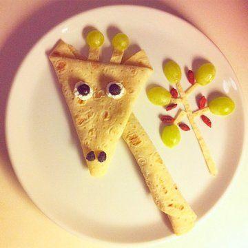 Girafe en crêpe ! Mardi gras !