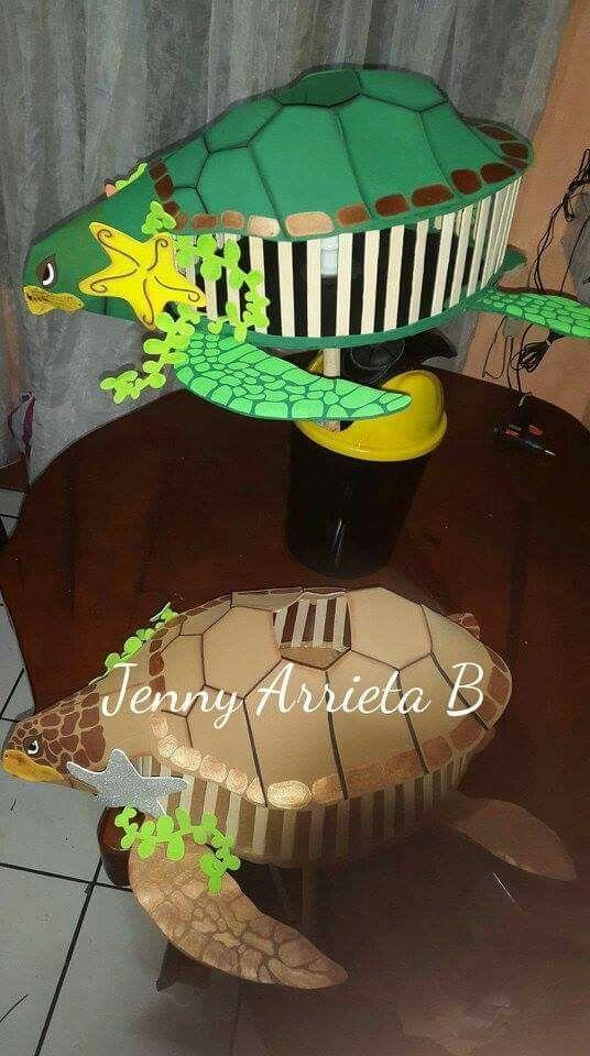 Faroles de tortuga. Creaciones Jenny- Costa Rica