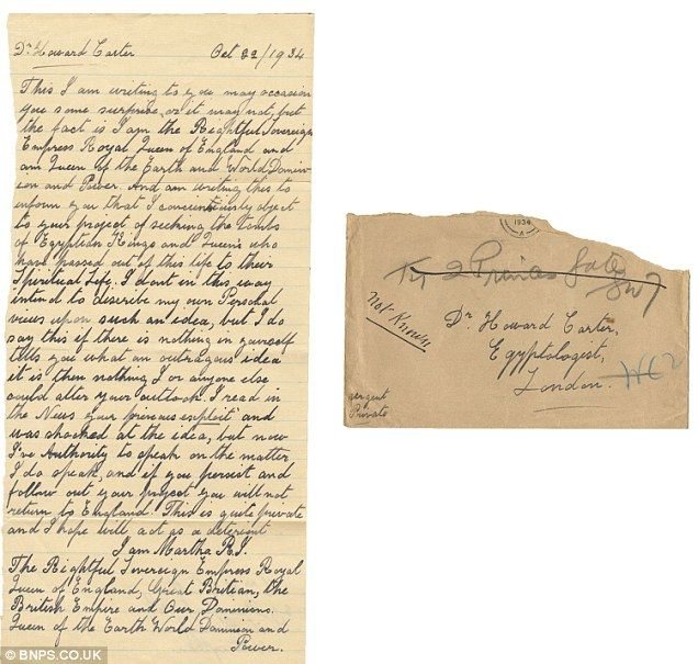 Tutankhamun's curse: Chilling letters sent to tomb raider Howard Carter are up for sale