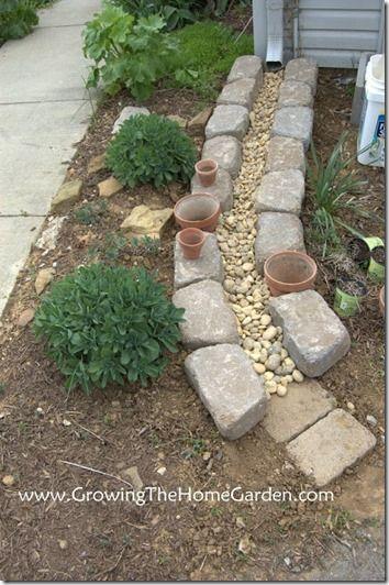 downspout drainage idea
