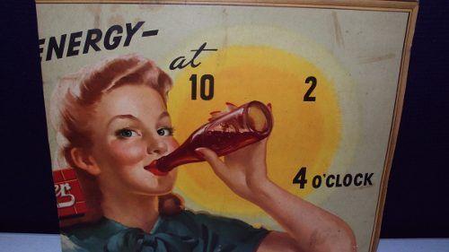Antiguo Cartel De Refreso Dr Pepper 50´s