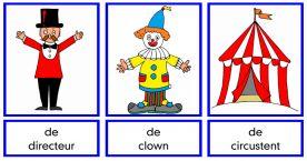 Woordkaarten en memory Circus