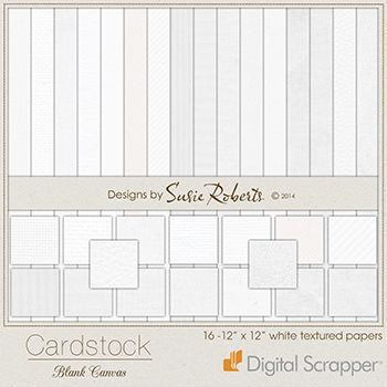 Cardstock - Blank Canvas  Susie Roberts  Cardstock - Blank Canvas makes scrapping with white backgrounds really simple.  This product contai...