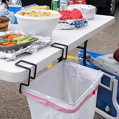 Portable recycling/trash bag holder... perfect for BBQ's this summer! Recycle all your bottles & cans at get-togethers and parties.