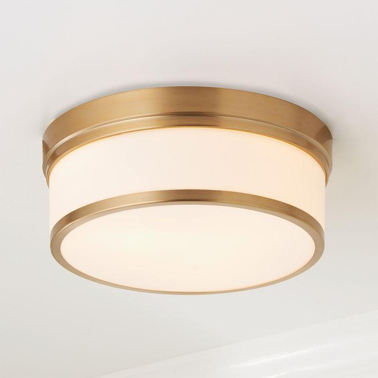 Metallic Banded Drum Flush Mount 3 Light Flush Mount Ceiling Lights Ceiling Lights Semi Flush Ceiling Lights