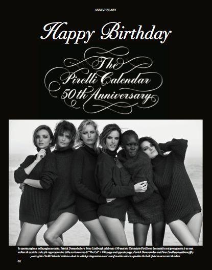The Pirelli Calendar - 50th Anniversary. #Pirelli #calendar #anniversary #fashion #woman #style #look