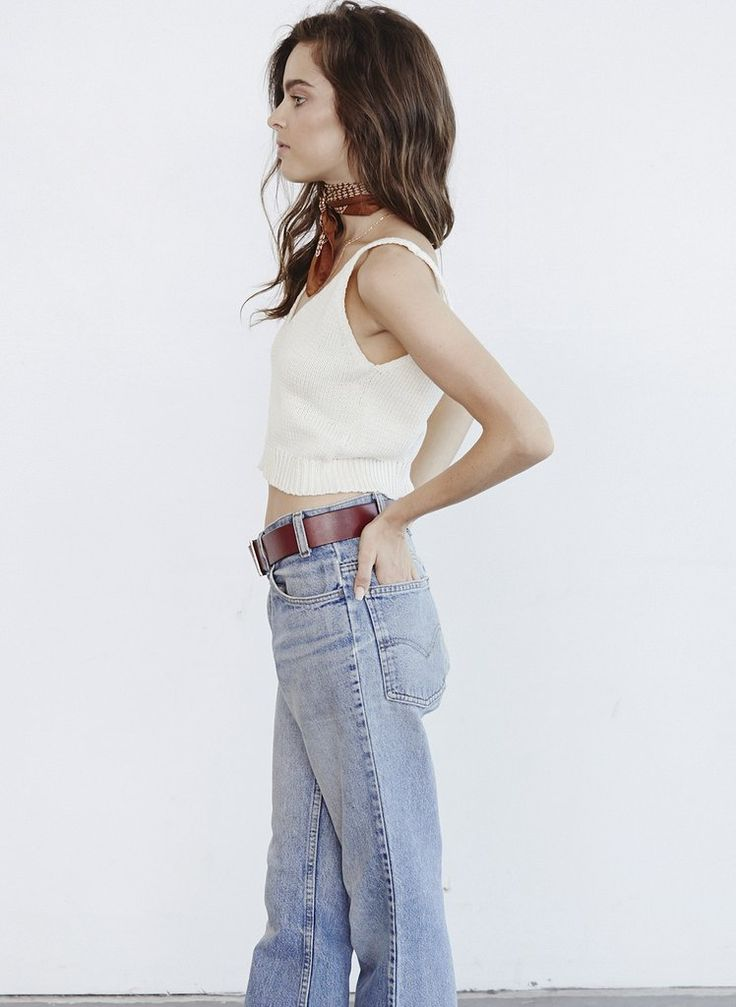 PALMS KNIT TOP OFF WHITE