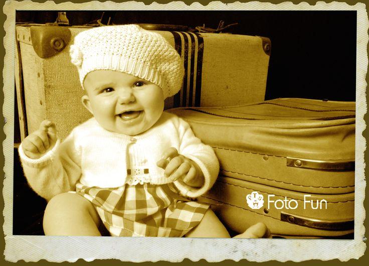 Vintage baby with big smile, Manuela