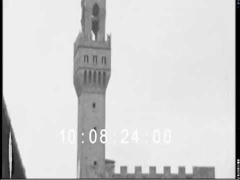 Firenze Palazzo Vecchio 1938s footage
