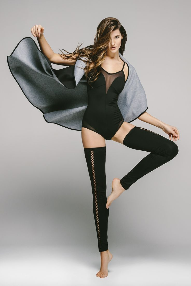 It has mesh inserts and a criss cross back that dress this bodysuit up and make it a must have. You can wear it as you'd like for exercising purposes or can even dress it up with a pair of highwaisted cutoff shorts for a daytime look. #mesh