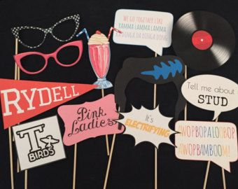 Large Fifties Grease Theme Party Photo Signs 7 by LMPhotoProps