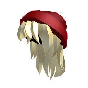 Red Beanie & Blonde Hair - ROBLOX